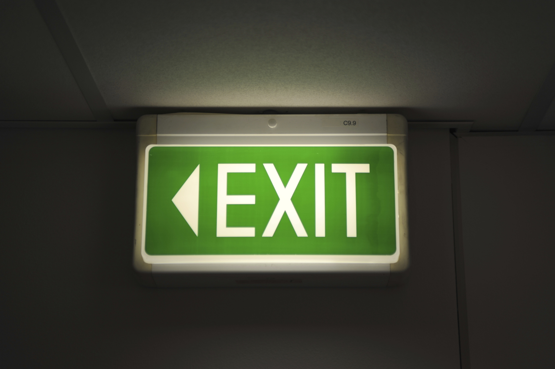 Exit Sign, To Indicate That Itu0027s Time To Leave Your Job