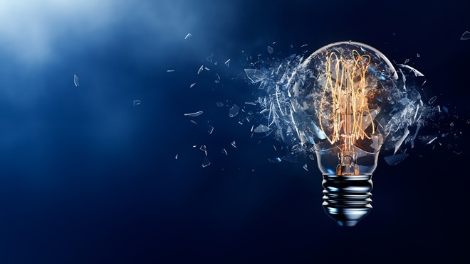 Exploding light bulb represents innovation - Hays Viewpoint, careers advice blog