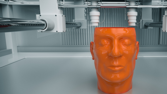 3D printer creates a model of a human head in a life sciences lab - Hays Viewpoint, careers advice blog