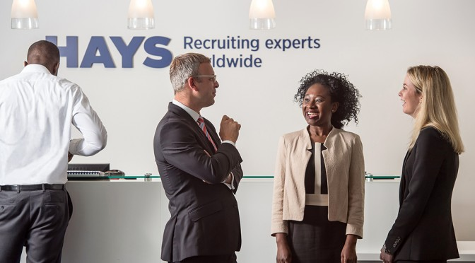 Young professional at a networking event - Hays careers advice